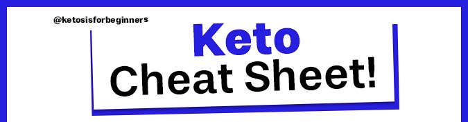 Keto Cheat Sheet for food.